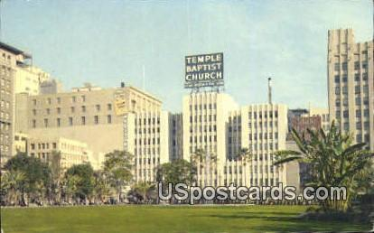 Temple Baptist Church Philharmonic Auditorium - Los Angeles, California CA Postcard
