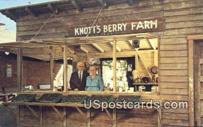 Original Berry Stand, Knott's Berry Farm - Buena Park, California CA Postcard