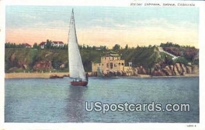 Harbor Entrance - Balboa, California CA Postcard
