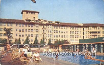 Los Angeles Ambassador Sun Club - California CA Postcard