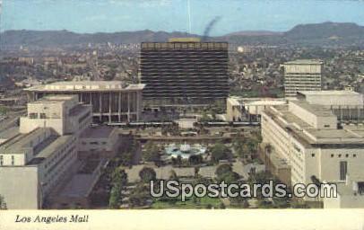 Los Angeles Mall - California CA Postcard