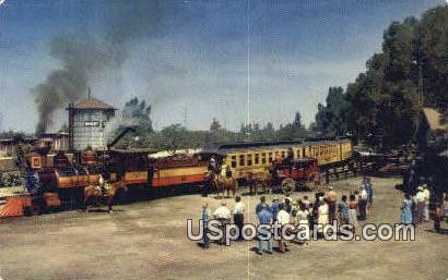 Ghost Town & Calico Railroad - Buena Park, California CA Postcard