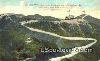 Lookout Mountain Park - Los Angeles, California CA Postcard