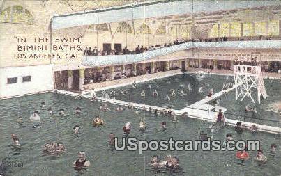 Bimini Baths - Los Angeles, California CA Postcard