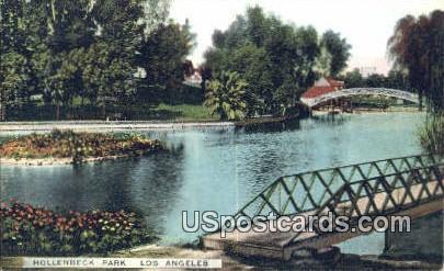 Hollenbech Park - Los Angeles, California CA Postcard