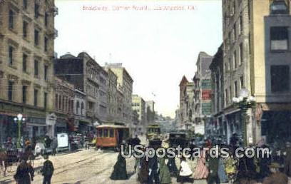 Main Street - Los Angeles, California CA Postcard