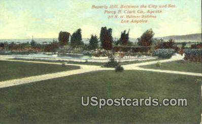 Beverly Hill - Los Angeles, California CA Postcard