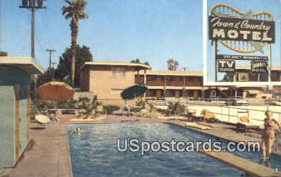 Town & Country Motel - Bakersfield, California CA Postcard