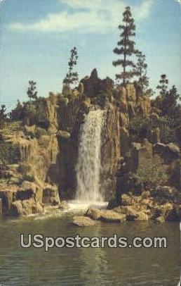 Panoramic Waterfall - Los Angeles, California CA Postcard
