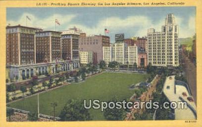 Pershing Square - Los Angeles, California CA Postcard