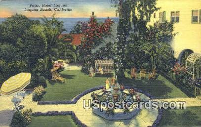 Patio, Hotel Laguna - Laguna Beach, California CA Postcard
