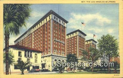 The Los Angeles Biltmore - California CA Postcard