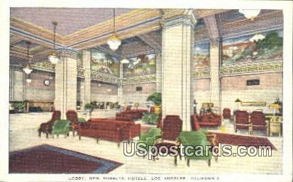 Lobby, New Rosslyn Hotels - Los Angeles, California CA Postcard