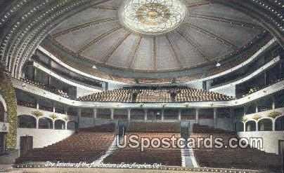 Auditorium - Los Angeles, California CA Postcard