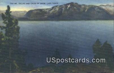 Mt Tallac - Lake Tahoe, California CA Postcard