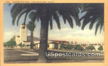 Union Station - Los Angeles, California CA Postcard