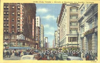 Seventh at Broadway - Los Angeles, California CA Postcard