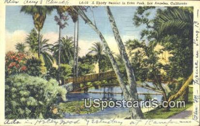 Echo Park - Los Angeles, California CA Postcard