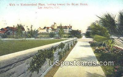 Westmoreland Place - Los Angeles, California CA Postcard