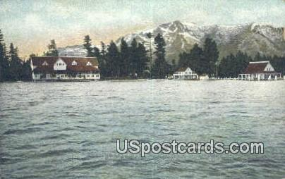 Tallac Landing, Mt Tallac - Lake Tahoe, California CA Postcard