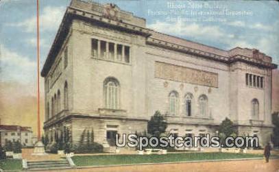 Illinois State Building - San Francisco, California CA Postcard