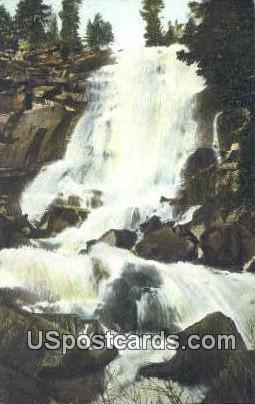 White Cloud Falls - Lake Tahoe, California CA Postcard