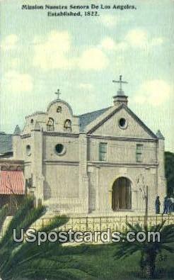 Mission Nuestra Senora - Los Angeles, California CA Postcard