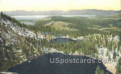Angora Lakes - Lake Tahoe, California CA Postcard