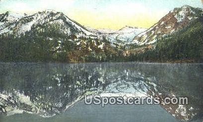 Cascade Lake - Lake Tahoe, California CA Postcard