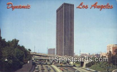 Harbor Freeway - Los Angeles, California CA Postcard