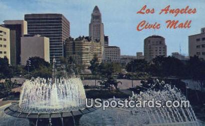 Civic Mall - Los Angeles, California CA Postcard