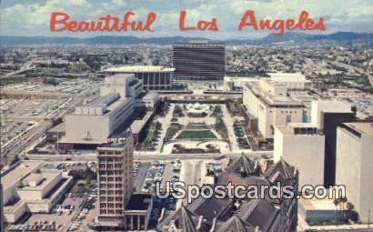 Civic Center Mall - Los Angeles, California CA Postcard