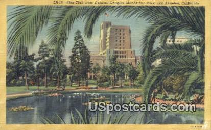 Elks Club, General Douglas MacArthur Park - Los Angeles, California CA Postcard