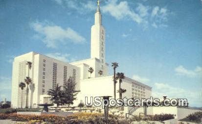 Church of Jesus Christ Latter Day Saints - Los Angeles, California CA Postcard