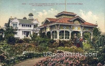 Kiosk & Residence of Paul De Longpre - Los Angeles, California CA Postcard