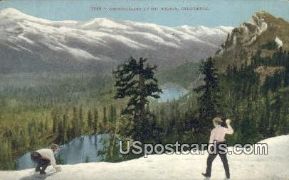 Snowballing - Mt. Wilson, California CA Postcard