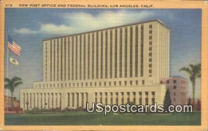 New Post Office & Federal Building - Los Angeles, California CA Postcard