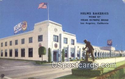 Helms Bakeries - Los Angeles, California CA Postcard