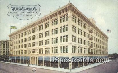 Hamburger's, Largest Department Store - Los Angeles, California CA Postcard