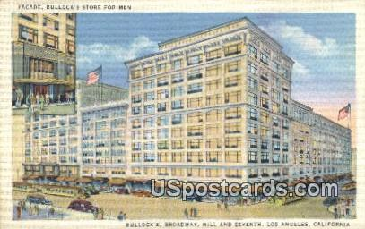 Bullocks, Broadway - Los Angeles, California CA Postcard