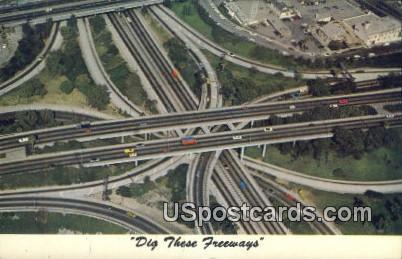 Downtown - Los Angeles, California CA Postcard