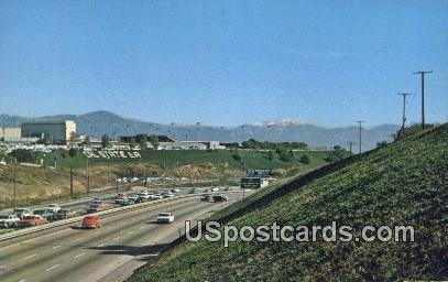 San Bernardino Freeway - Los Angeles, California CA Postcard