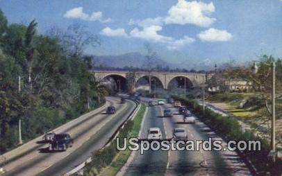 Arroyo Seco Freeway - Los Angeles, California CA Postcard