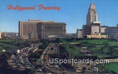 Hollywood Freeway - Los Angeles, California CA Postcard
