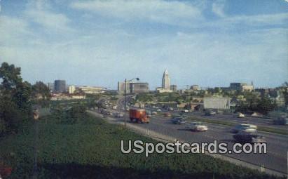 Civic Center - Los Angeles, California CA Postcard