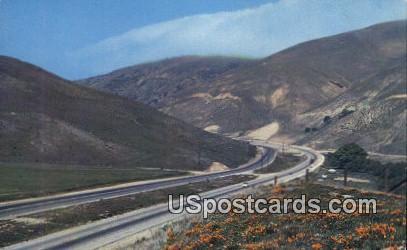 The Grapevine Highway 99 - Bakersfield, California CA Postcard