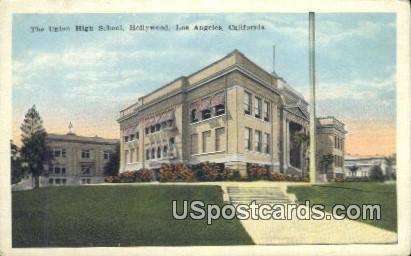 Union High School - Los Angeles, California CA Postcard