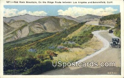 Red Rock Mountain - Bakersfield, California CA Postcard
