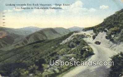 Red Rock Mountain - Los Angeles, California CA Postcard