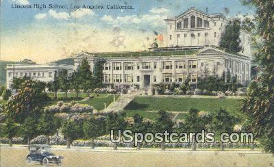 Lincoln High School - Los Angeles, California CA Postcard